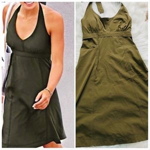 Olive Green Pack Everywhere Halter Dress